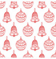 seamless pattern of red christmas symbols vector image vector image