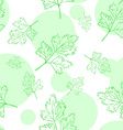 seamless pattern with parsley leafs vector image vector image