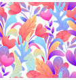 seamless pattern with romantic flowers vector image vector image