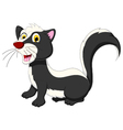 skunk cartoon posing vector image vector image