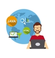 software developer and programmer vector image vector image