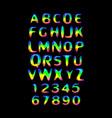 stylized splashy font vector image
