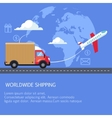 Supply and delivery logistics services in the vector image vector image