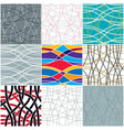 tangled curvy lines seamless patterns set repeat vector image vector image
