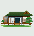 traditional house in japan vector image vector image