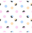 trendy abstract polka dot abstract seamless vector image vector image