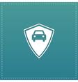 vehicle shield flat icon vector image vector image