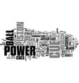 why a meucci power piston text word cloud concept vector image vector image