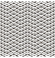 zigzag black and white seamless pattern vector image vector image