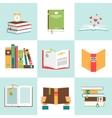 Set of books in flat design vector image