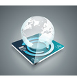 3d business abstract background - glass globe on vector image