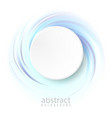 abstract blue background with circles circle vector image vector image