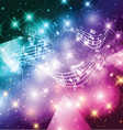 Abstract music notes background vector image vector image