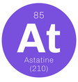 Astatine chemical element vector image vector image