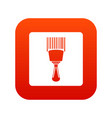 bar code scanner icon digital red vector image vector image