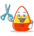 barber candy corn character cartoon vector image vector image