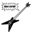 bass guitar 4 strings vector image