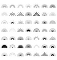 big set of retro sun burst shapes 49 half vintage vector image vector image
