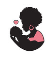 black mother with a baby in her arms vector image