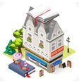 Book Shop City Building 3D Isometric vector image vector image