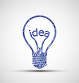 Bulb with the word idea vector image vector image