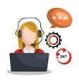 call center design vector image vector image