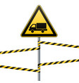 caution - danger warning sign safety beware of vector image vector image