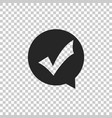 check mark in circle icon isolated vector image vector image