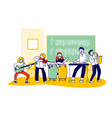 children on lesson in music school students vector image vector image