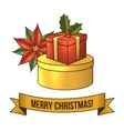 Christmas gift box icon vector image vector image