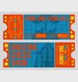 circus tickets vintage vector image vector image