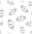 clock countdown icon seamless pattern background vector image vector image