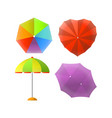 colorful striped umbrellas for protection from sun vector image