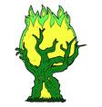 comic cartoon spooky old tree vector image vector image