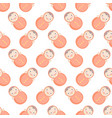 cute baby seamless pattern with roly-poly vector image