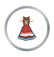 Dirndl icon in cartoon style isolated on white vector image vector image