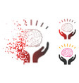 dispersed pixelated halftone human brain knowledge vector image vector image