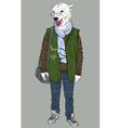 Fashion Hipster Animal bear vector image