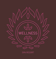 Floral logo template for wellness salon Spa center vector image vector image