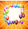frame with balloons vector image