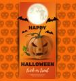 halloween poster design with jack o lantern vector image