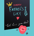 happy fathers day lettering text greeting card vector image vector image