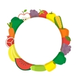 Healthy food round banner Vegetarian vector image