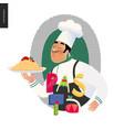 italian restaurant set vector image vector image
