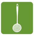 kitchen skimmer icon vector image