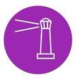 Lighthouse line icon vector image vector image