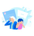 message business people concept vector image vector image