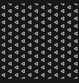 minimalist black and white seamless pattern with vector image vector image