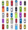Multicolored car collection with shadow isolated vector image vector image