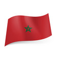 national flag of morocco green star in center of vector image vector image